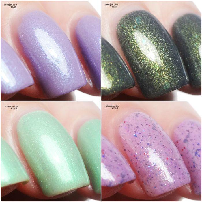 xoxoJen's swatches of Shimmer Me Box