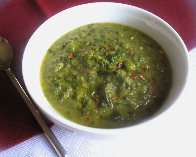 Green Pea and Collard Green Soup