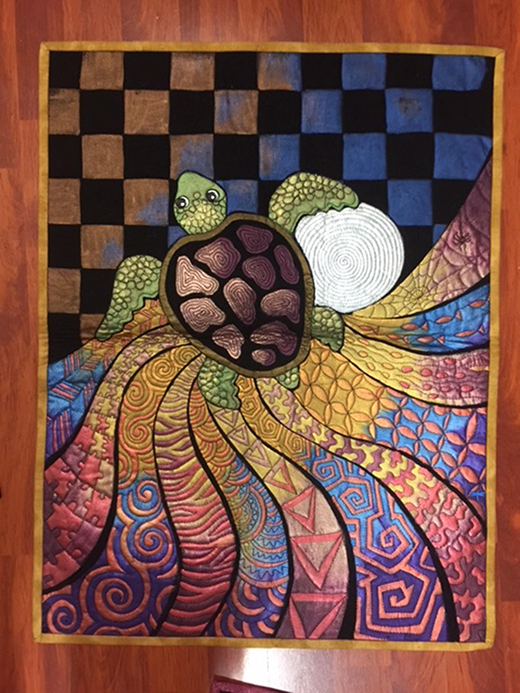 Flying Into Colours design - Turtle Quilt Free Pattern