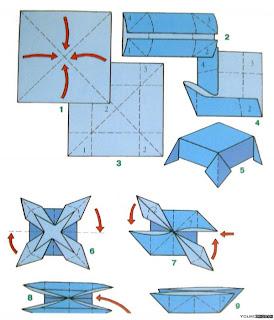 бумажный кораблик схема оригами