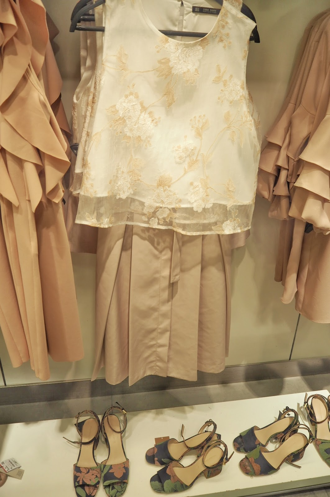 Zara - Organza Top with embroidery