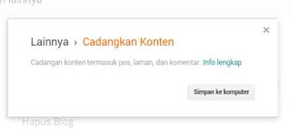 Cara BackUp Data Konten dan Template di Blogger