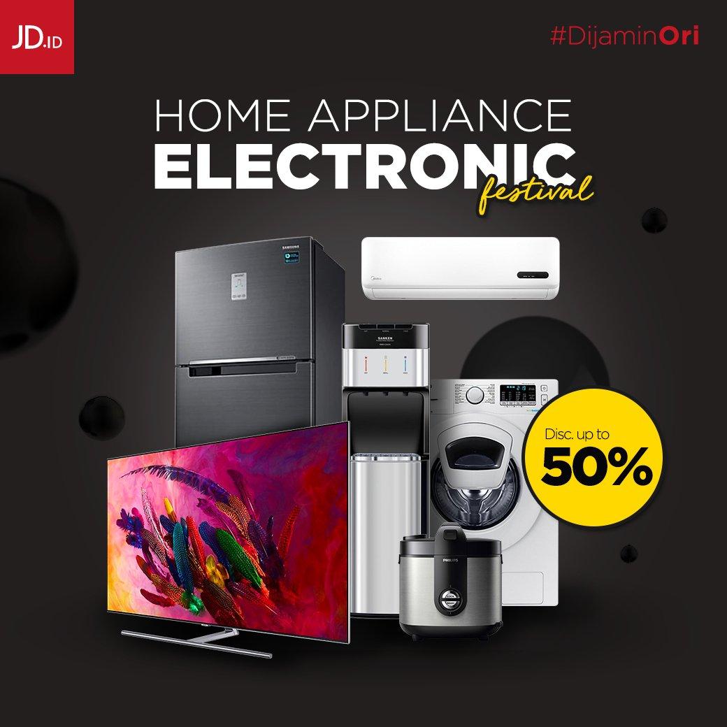 JD.ID - Promo Diskon s.d 50% di Home Appliance Electronic Festival