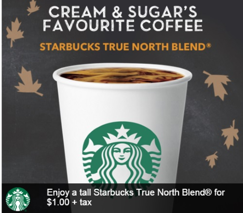 Starbucks True North Blend $1 Coupon