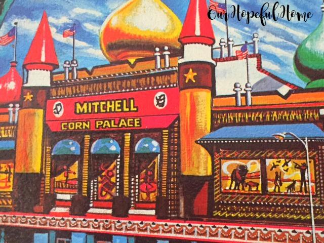 Mitchell, South Dakota Souvenir metal tray