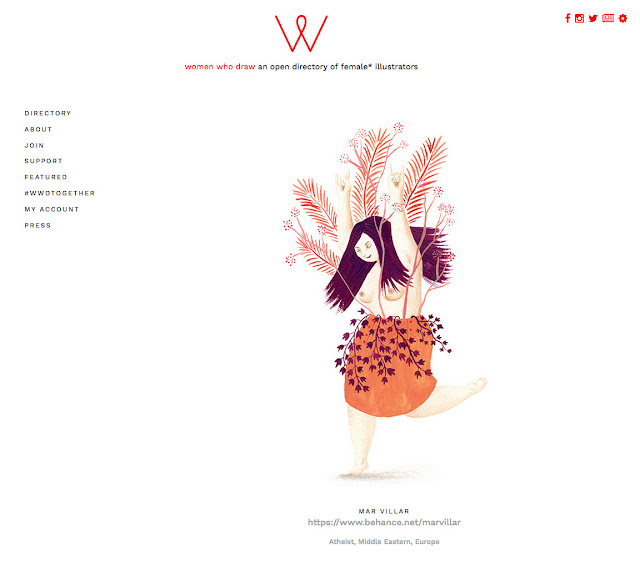 women who draw, mar villar, botánica, bailarina, plantas, hojas, vegetación, hojas de palmera,