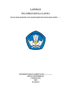laporan pelatihan kepala lab