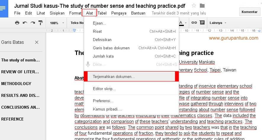 Cara Translate File PDF Inggris-Indonesia Online-Guru Pantura