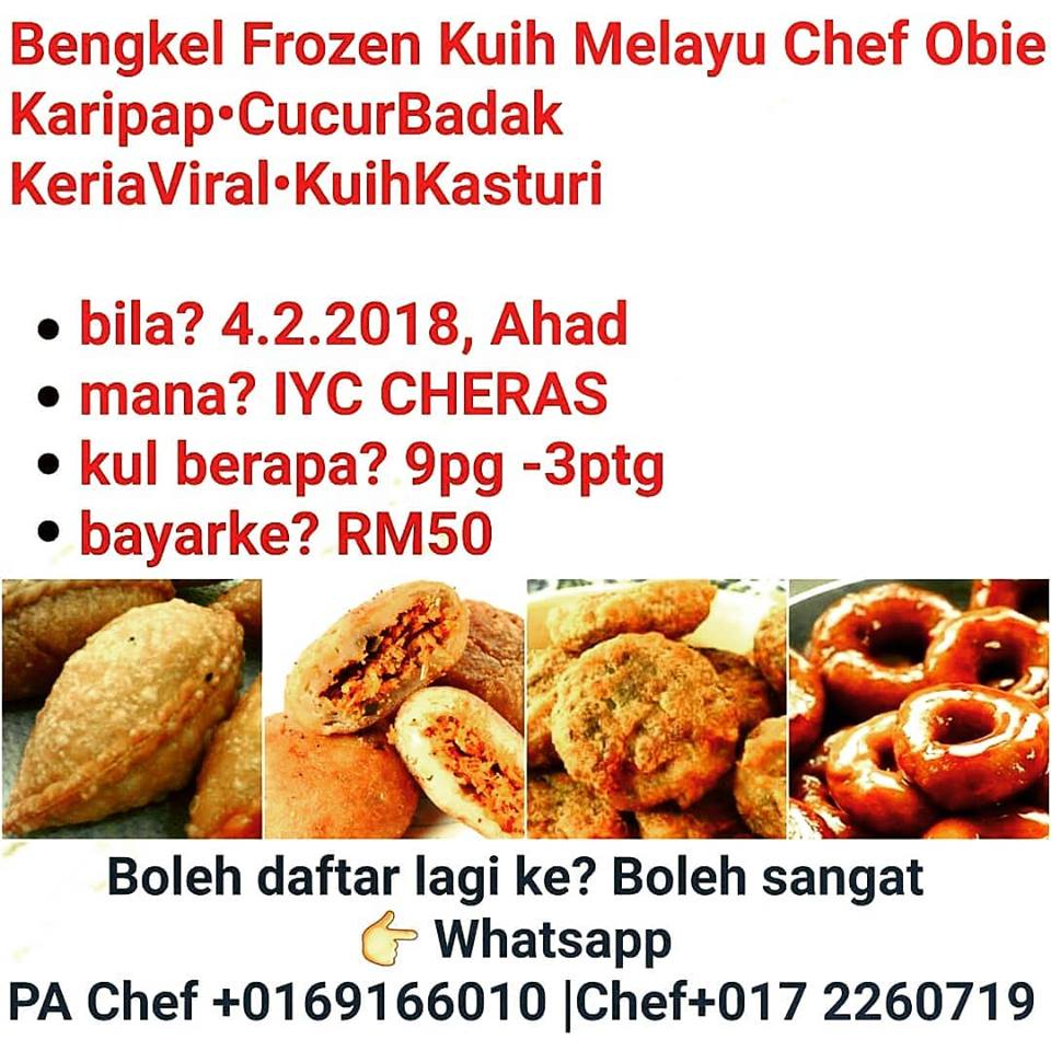 Chef Obie Kelas Masakan 1001 Info & Resepi: Kuih Melayu ...