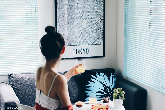 日本人ファッションブロガー,Mizuho K,Newin インテリア/ TOKYO ストリートマップポスター from MODERN MAP ART