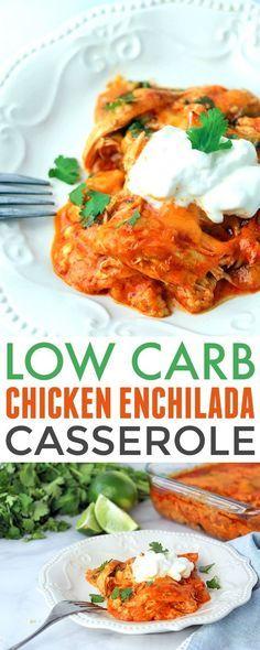 Low Carb Chicken Enchilada Casserole