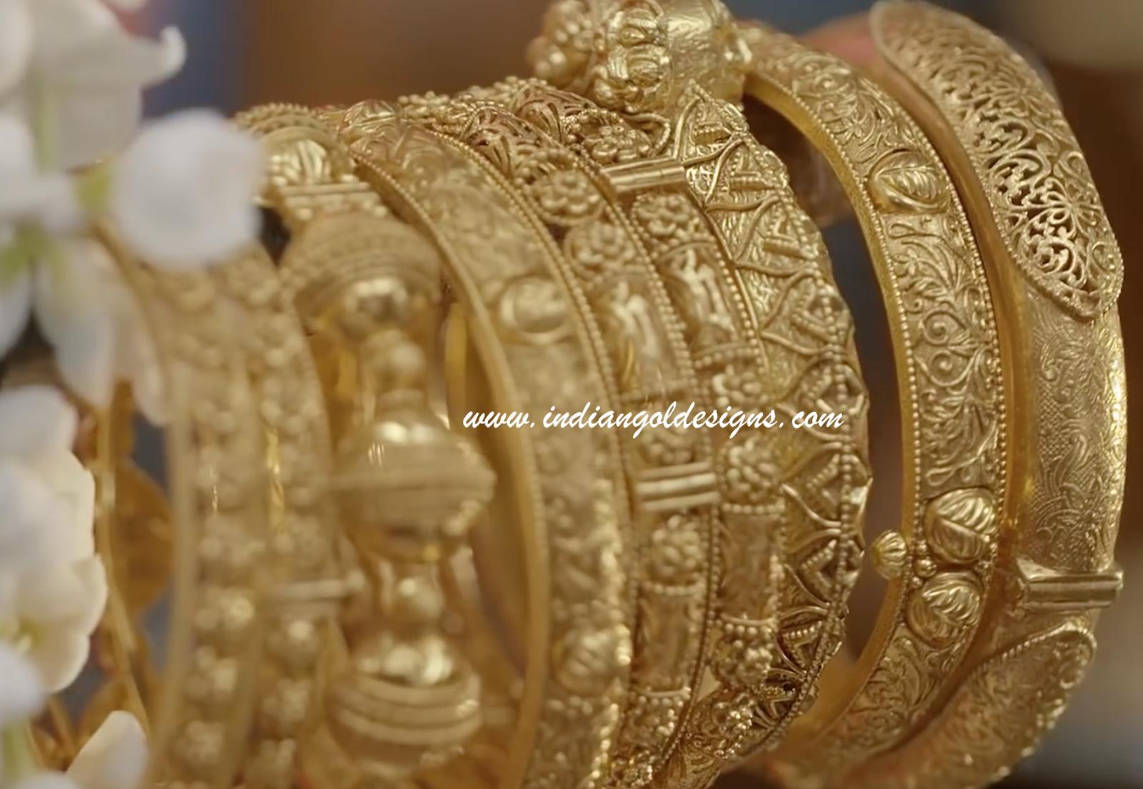 gold and diamond jewellery designs tanishq gold bangles