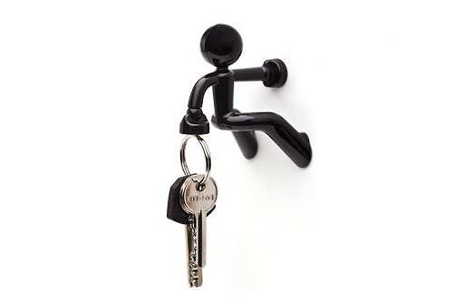 Magnetic Key Holder or Mini-Spiderman? Key Pete will hold your keys in one  hand, while the other is attached to metallic door, refrigerator or any  other ...
