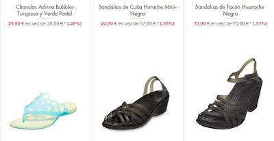 Chanclas y sandalias