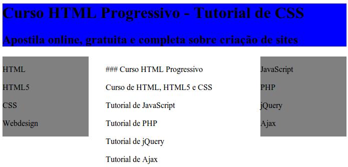 Tutorial de CSS completo, apostila de HTML5 para download, curso de HTML online grátis com ceritifcado