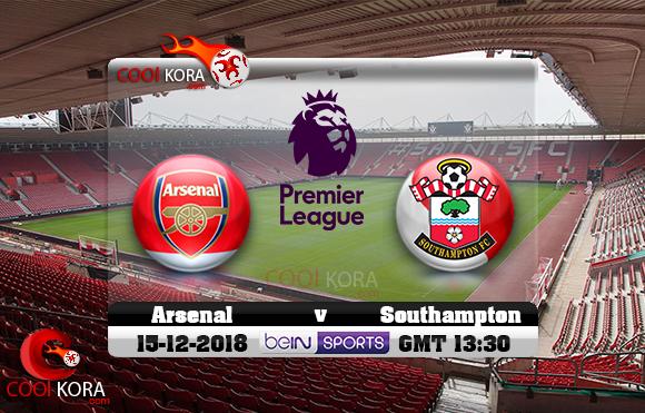مشاهدة مباراة ساوثهامبتون وآرسنال اليوم 16-12-2018 في الدوري الإنجليزي