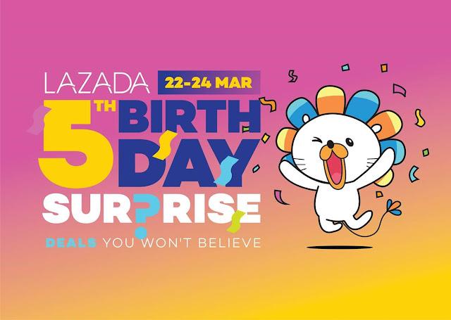LAZADA 迈入 5 周年,同时与 Senheng 合作推出的年度超值优惠,只在 3 月 22 日至 31 日!