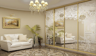 Frosted Mirrored Cabinet Doors