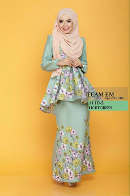 Daisy Peplum Light Green Cantik