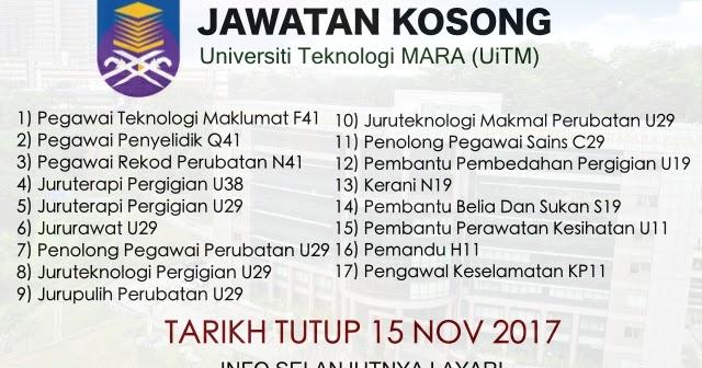 Jawatan Kosong Uitm Shah Alam Mac 2018 Umpama F