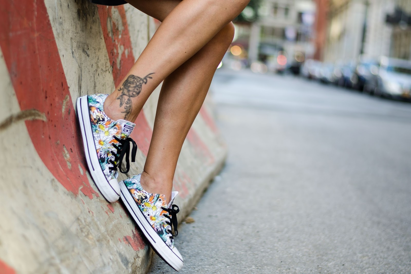 converse all star floral print sneakers