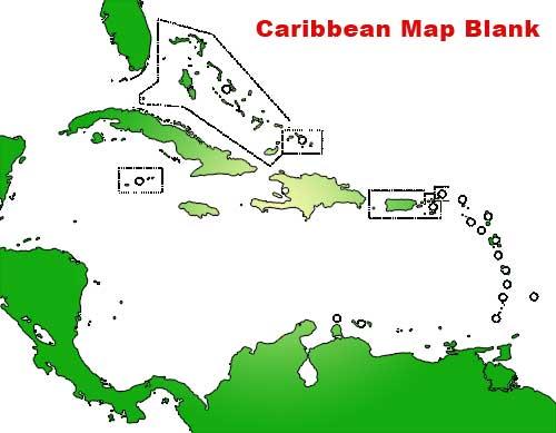 Caribbean Map Blank