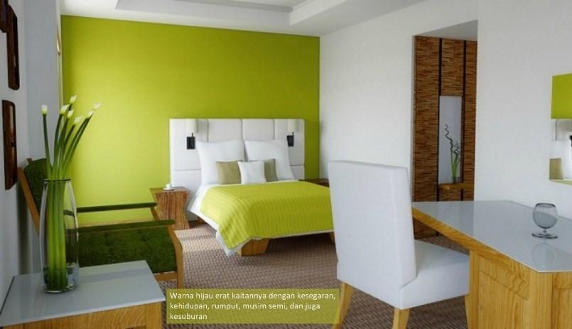 warna cat kamar tidur hijau terang 4