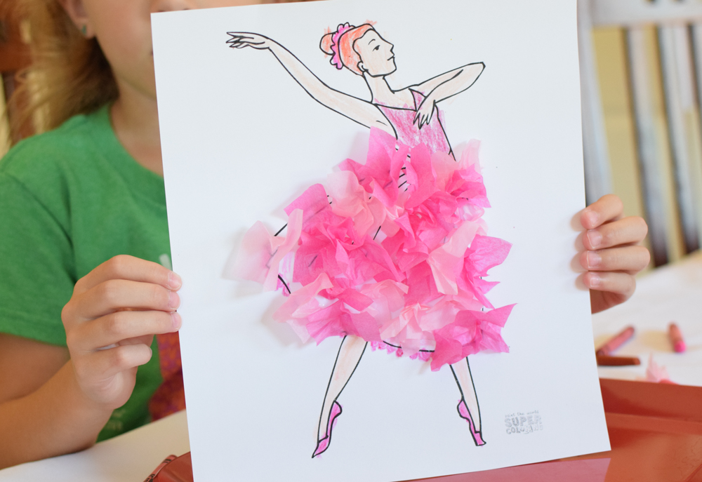 Ballerina Preschool Craft