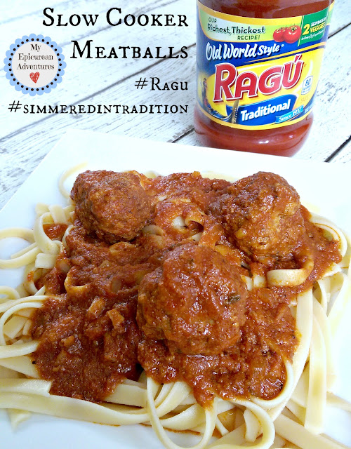 Slow Cooker Meatballs #simmeredintradition #ragu http://bit.ly/RaguSimmeredInTradition