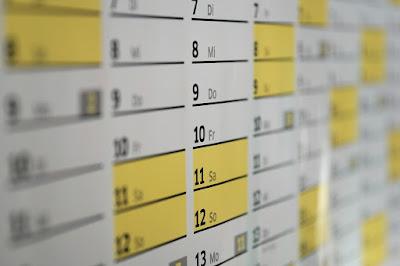 A picture of a calendar.