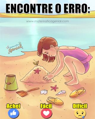 Encontre o erro nesta praia