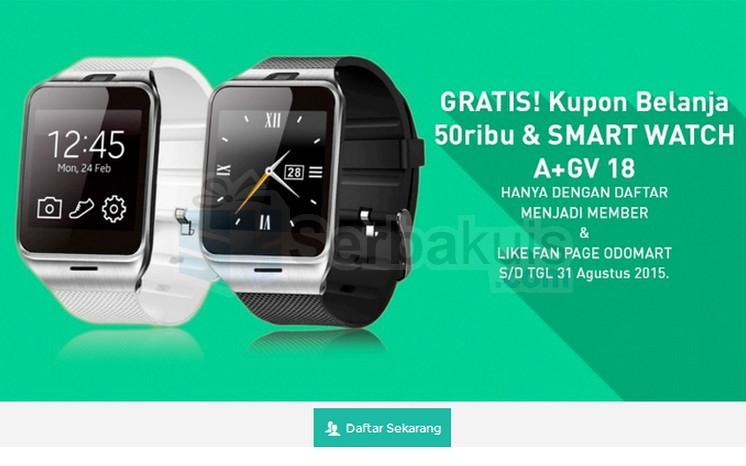 Jadi Member Odomart Berhadiah GV18 A+ Smartwatch & Kupon