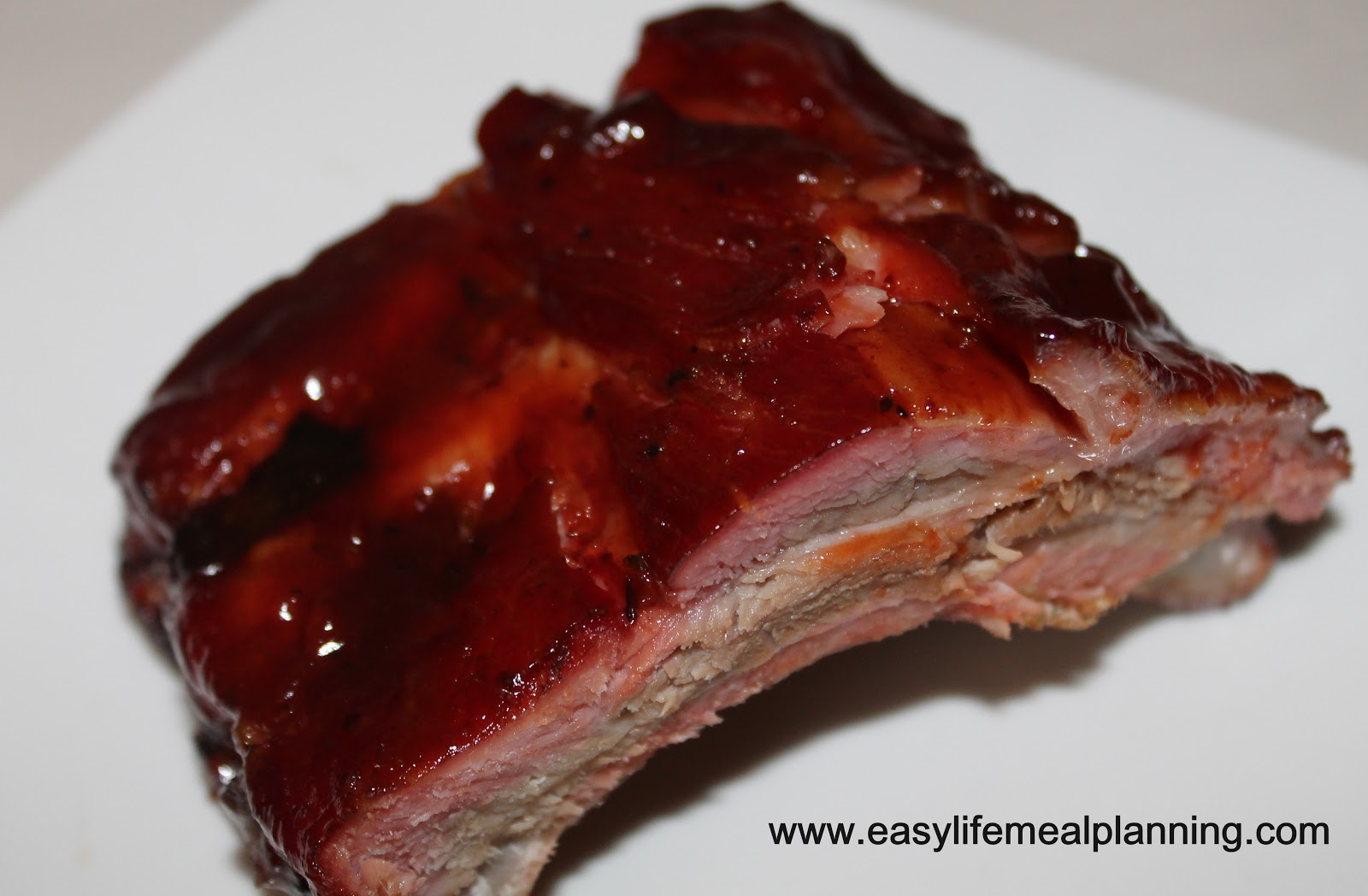 Smoked Warm Honey & Brown Sugar Glazed Ribs - Easy Life Meal & Party Planning