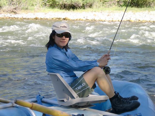 Flygirl Hyun Kounne on the Boulder river, MT