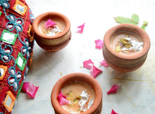 Kesar Phirni | Saffron Flavored  Rice Pudding | Indian Dessert