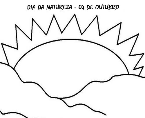 DIA DA NATUREZA DESENHOS E ATIVIDADES PARA COLORIR