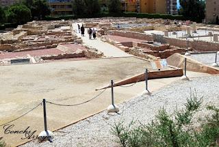 Recinto de las ruinas de Lucentum, en el Tossal de Manises de Alicante.
