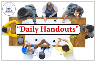 """DAILY HANDOUTS""- Evening Session"