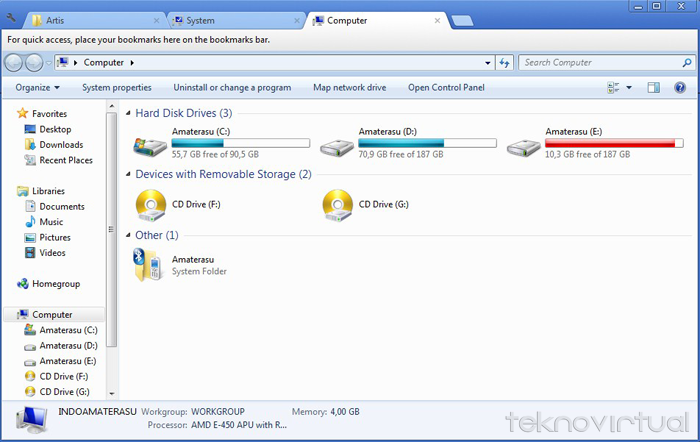 Cara Membuat Multi Tab Windows Xplorer