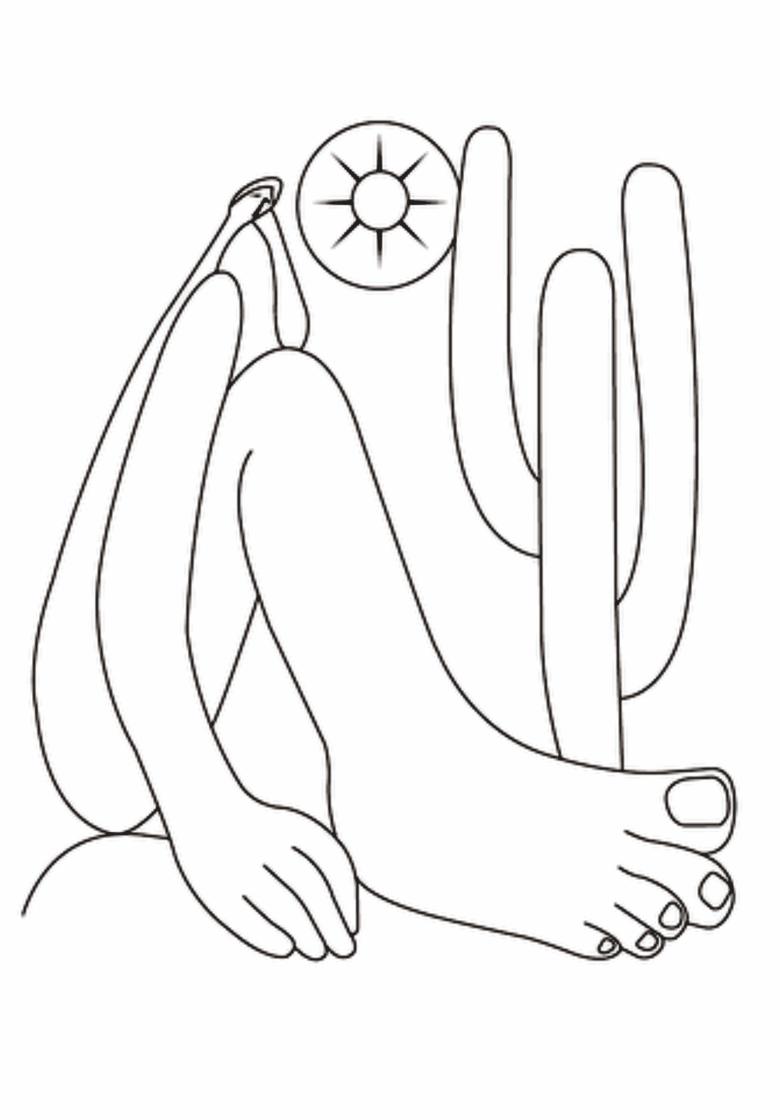 Para colorir ~ Abaporu - Tarsila do Amaral