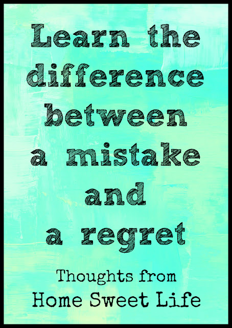 mistake versus regret, regret free homeschooling, parenting tips, God's grace