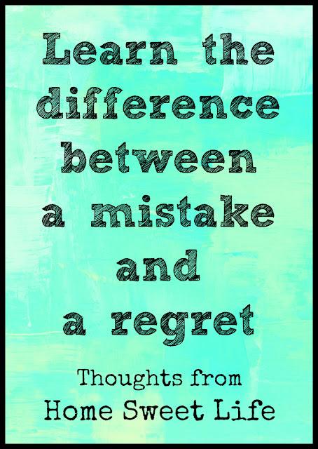 mistake versus regret, regret free homeschooling, parenting tips, God's grace