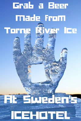 Sweden's ICEHOTEL has a new signature beer, Torne Islager, made from ice from the Torne River.