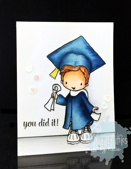 Tiddly Inks, Kecia Waters, Copic markers, graduation