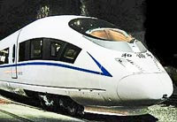 photo of a Chinese bullet train