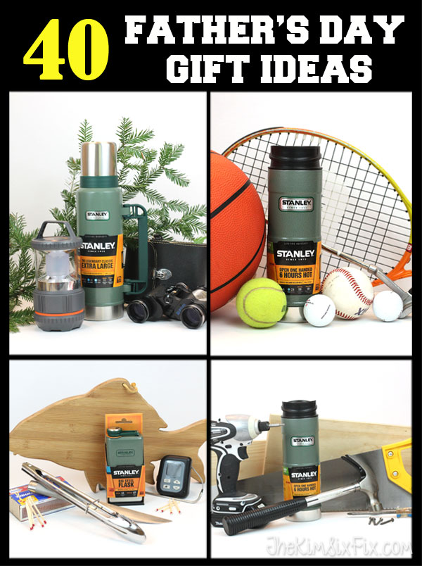40 Fathers Day Gift Ideas for Every Interest:  the Outdoorsman, Grillmaster, Sports Fan and Woodworker.