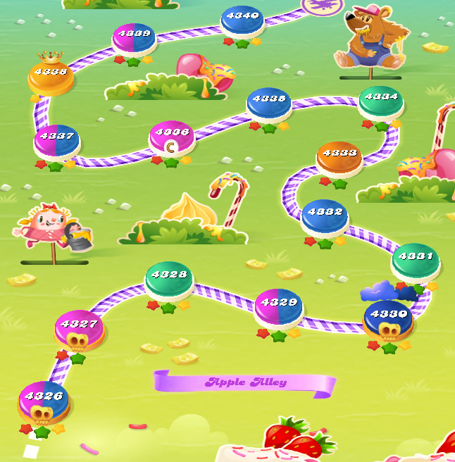 Candy Crush Saga level 4326-4340