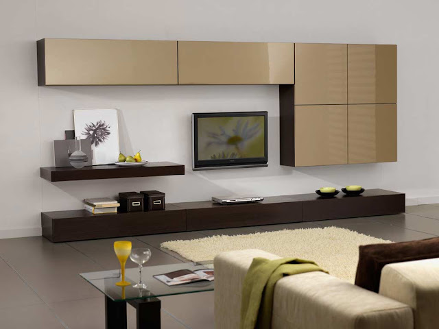 Modern TV wall units for unique living room designs