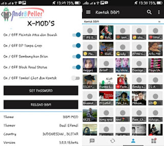 BBM X-MOD Black Edition V3.0.0.18 Apk Full DP Terbaru 2016