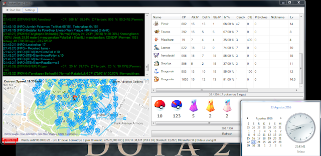 Cara Menggunakan RocketBot versi 2.0.0.0 Beta 6 Bot Pokemon Go GUI Terbaru